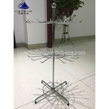 Bright Chrome metal wire display rack,double-level accessories display KF-Q017