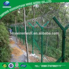 Alibaba Trade Assurance Fabricante Favorável preço novo design dark green wire mesh fence