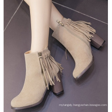 Women Ankle Boots Ladies Boots with Tassels