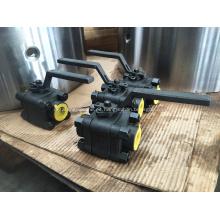 Válvula de bola flotante de acero forjado 3pcs Clase Class800