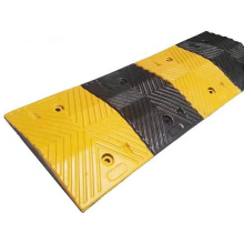 1000*350*50MM Yellow Black Rubber Road Speed Bump
