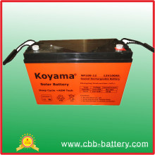 Deep Cycle Solar UPS Battery 12V100ah VRLA Battery Emergency Battery