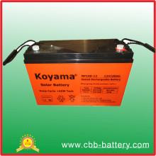 Bateria solar da emergência da bateria da bateria 12V100ah VRLA de UPS do ciclo profundo
