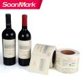 Impresión de etiquetas de botella de vino adhesiva personalizada impermeable