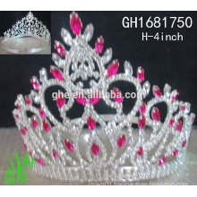 New designs rhinestone royal accessories wholesale crowns and tiaras