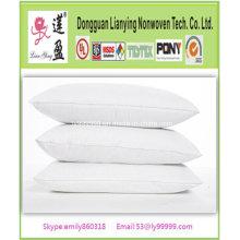 Algodón blanco estándar de poliéster de relleno almohada Hotel