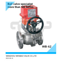 SUS316L Electric Flange Ball Valve Dn80 Pn16