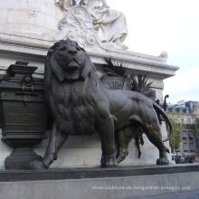 Garten Dekor Leben Größe Bronze kleine Löwen Skulptur