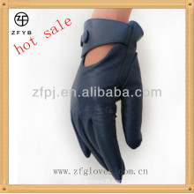 Goat skin leather fashion gloves for women