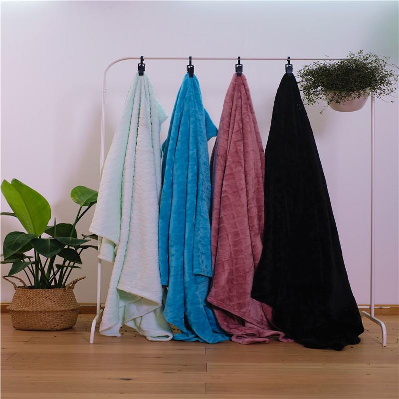 Velvet Jacquard Bed Blanket