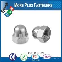 Fabriqué à Taiwan En acier inoxydable DIN 1587 Acorn Domed Nut