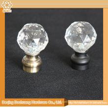 8/10/13/16/19/22/25 / 28mm Crystal Glass Decorative Decorative rideau décoratif finials