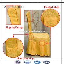 Hot Selling Polyester Fabric Banquet Used Cheap Dining Chair Covers