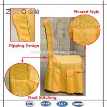 Горячие продажи полиэфирной ткани банкет используется дешевые обеденный стул крышки