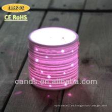 2015 caliente y nueva colorida Led batería operar la lámpara de porcelana