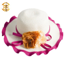 2015 New Fashion Casual Summer Wide Large Brim Cap Sweet Women Beach Straw Hat
