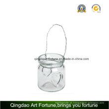 Tealight Lanterna de vidro Candle Holder para decoração ao ar livre