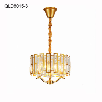 copper chandelier lamp golden frame lighting fixture