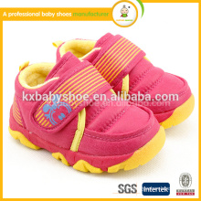 2015 cheap cute hot selling genuine with tpr sole flip velcro low price warrior moccasin new leather baby shoes