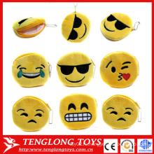 Дешевый кошелек для монеты, плюшевый модный кошелек emoji