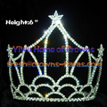 6inch All Clear Crystal Wholesale Crowns