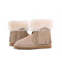 Модная обувь для леди Снежные сапоги с кисточкой для женщин
