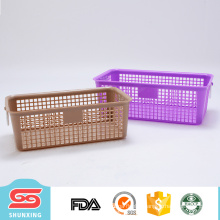 Best sellers portable vegetable storage rectangular plastic basket with handle