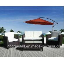 Mobiliario de jardín Muebles de jardín de ratán de sofá de mimbre (GN-9078S)