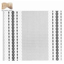 tissu de maille de polyester déco tissé de vente chaude