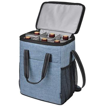 Isolierte Thermo 6 Flaschen Portable Weinkühltasche