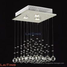 Lustre de cristal gota quadrado moderno levou luminária de teto 19220