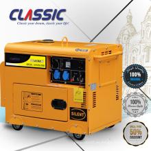 GENERADOR DIESEL CLÁSICO (CHINA) 5kw 5kva, pequeño generador diesel refrigerado por agua, generador diesel silencioso 5kva