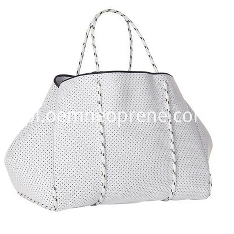 White Neoprene Beach Bags