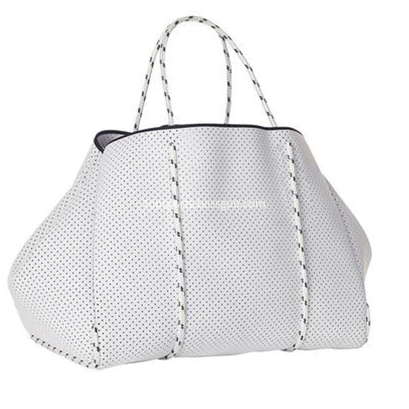 White Neoprene Beach Bags