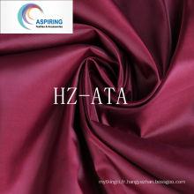 Antistatique 210t Doublure en tissu en tafet en polyester