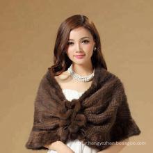 Customized supplier raccoon fur fashion shawl
