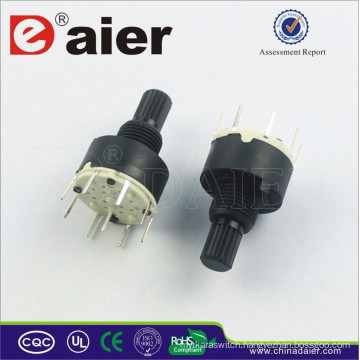 RS16-1-8 Mini 8 Position Rotary Switch 2 Pole