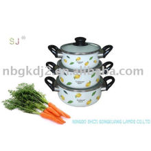 3 PCS Enamel Cookware Set