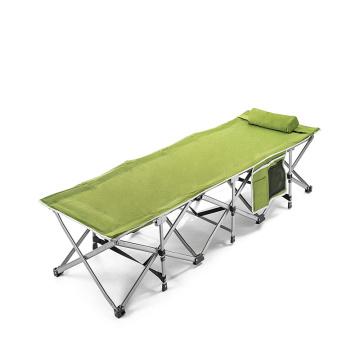 Роскошная складная военная кровать для одного человека с подушкой
