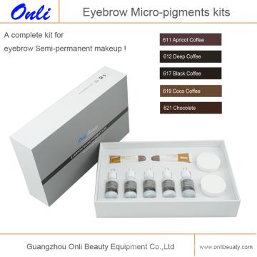Kits de micro pigments aux sourcils Micro pigment permanent à l'encre de maquillage