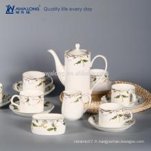 Dessin d'arbre Dessin naturel Ensemble de tasse de café australien, ensemble de plaque de coupe de café