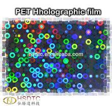 PET Metallisierter Holographischer Film Laserfilm für UV-Druck