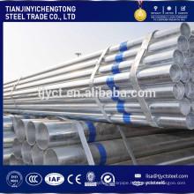 DN25 galvanized steel pipe price per kg hot dipped gi pipe / tube