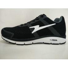 China-Großverkauf-Marken-schwarze strickende laufende Schuhe