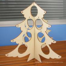Mini arbre en bois fait main de Noël de bricolage environnemental pour la décoration à la maison