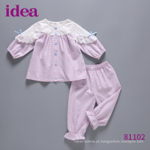 81102 New Spring Girls Clothing Conjunto Pijamas De Bebê