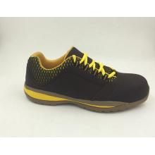Deportes estilo capa superior cuero Nubuck seguridad trabajo zapatos con puntera de Composite (16061)