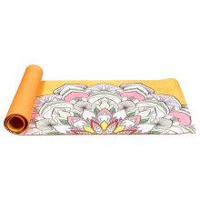 Yugland Non slip custom printed 6mm eco-friendly  tpe  suede yoga mats
