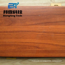 Material de construcción, grano de madera, diseñado, puerta de aluminio, hoja