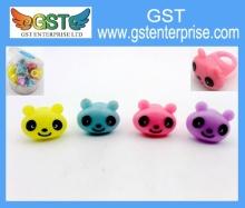Light Up Panda Plastic Rings